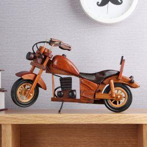 앤틱 원목 모형 오토바이(29cm) [제작 대량 도매 로고 인쇄 레이저 마킹 각인 나염 실크 uv 포장 공장 문의는 네이뽕]