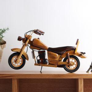 원목 클래식 인테리어 모형 오토바이(37cm) [제작 대량 도매 로고 인쇄 레이저 마킹 각인 나염 실크 uv 포장 공장 문의는 네이뽕]