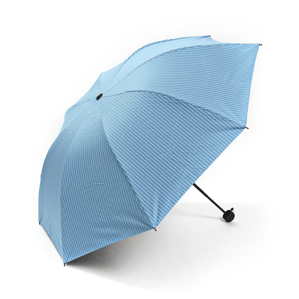 스트라이프 3단 우산 겸 양산 [제작 대량 도매 로고 인쇄 레이저 마킹 각인 나염 실크 uv 포장 공장 문의는 네이뽕]