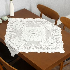 프렌치 레이스 테이블보(로맨틱) (80x80cm) [제작 대량 도매 로고 인쇄 레이저 마킹 각인 나염 실크 uv 포장 공장 문의는 네이뽕]