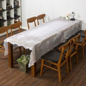 프렌치 레이스 테이블보(샐리가든) (150x250cm) [제작 대량 도매 로고 인쇄 레이저 마킹 각인 나염 실크 uv 포장 공장 문의는 네이뽕]