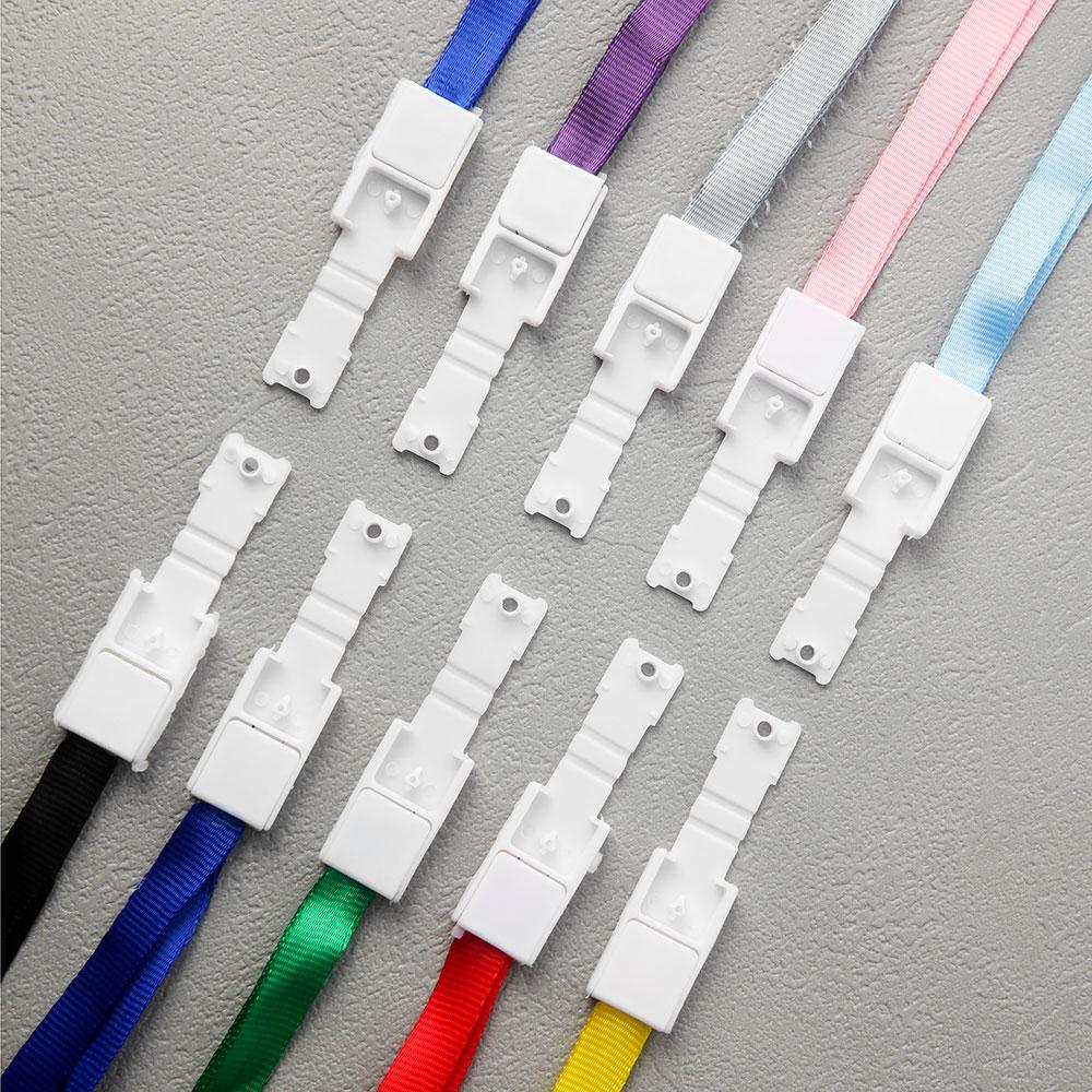 컬러 스트랩 목걸이줄 10p세트 [제작 대량 도매 로고 인쇄 레이저 마킹 각인 나염 실크 uv 포장 공장 문의는 네이뽕]
