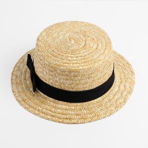 밀짚 리본 페도라 모자 [제작 대량 도매 로고 인쇄 레이저 마킹 각인 나염 실크 uv 포장 공장 문의는 네이뽕]