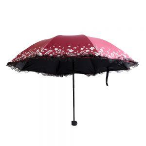 플로랄 3단 우산겸 양산 [제작 대량 도매 로고 인쇄 레이저 마킹 각인 나염 실크 uv 포장 공장 문의는 네이뽕]