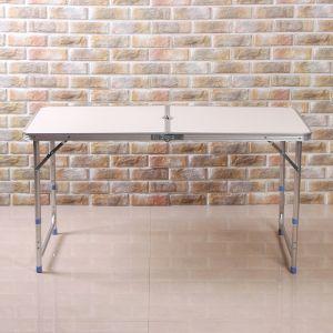 알루미늄 폴딩 캠핑테이블(120x60cm) [제작 대량 도매 로고 인쇄 레이저 마킹 각인 나염 실크 uv 포장 공장 문의는 네이뽕]