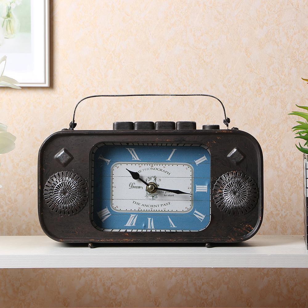 레트로 인테리어 탁상시계(라디오)