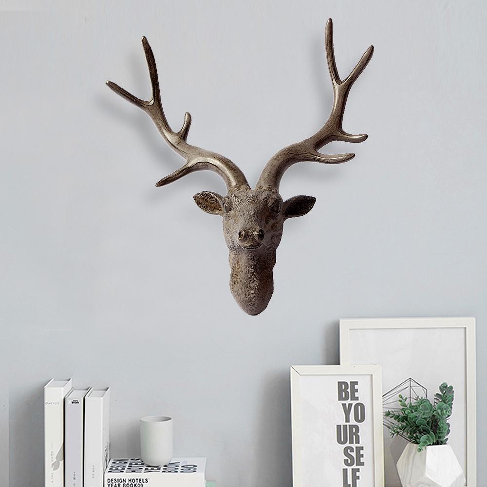 북유럽풍 사슴머리 벽장식(40cm) [제작 대량 도매 로고 인쇄 레이저 마킹 각인 나염 실크 uv 포장 공장 문의는 네이뽕]