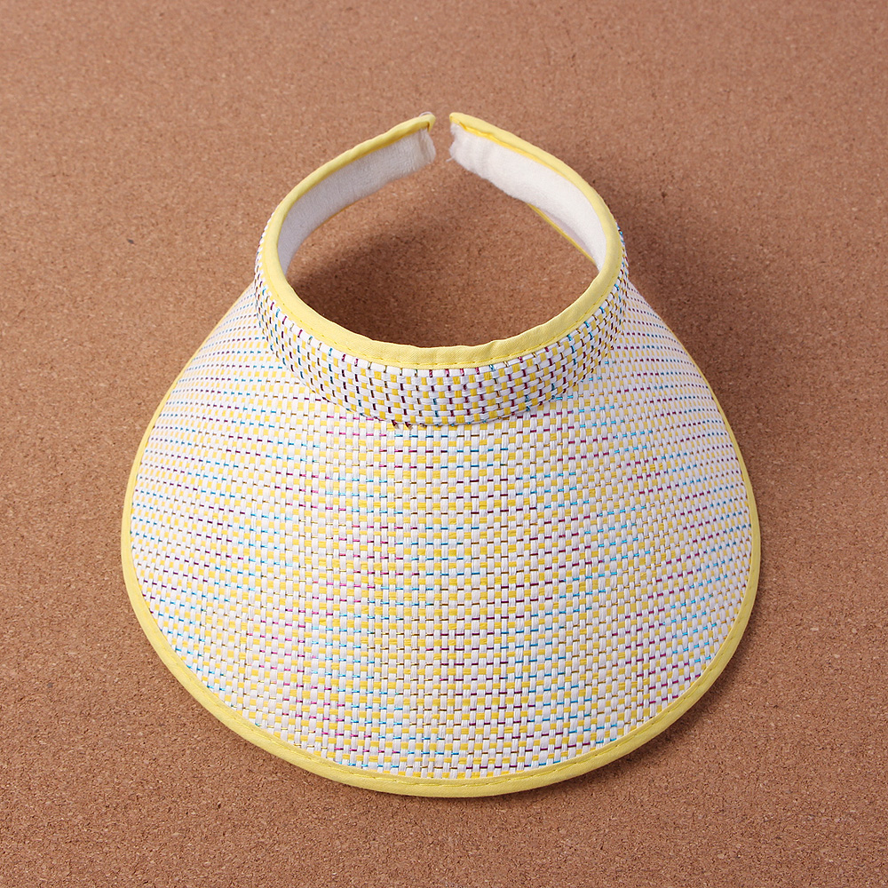 쿨썸머 체크 썬캡(여성용) [제작 대량 도매 로고 인쇄 레이저 마킹 각인 나염 실크 uv 포장 공장 문의는 네이뽕]