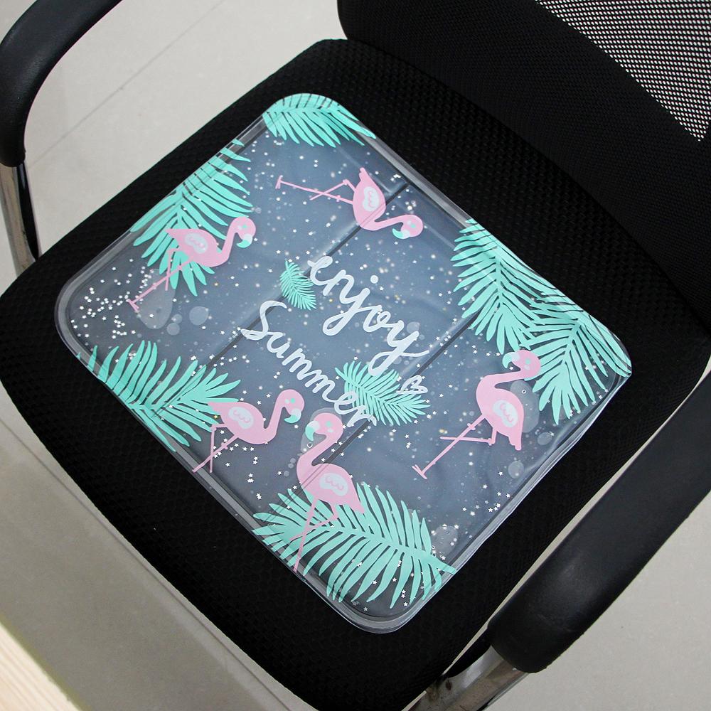 썸머 플라밍고 아이스 방석 [제작 대량 도매 로고 인쇄 레이저 마킹 각인 나염 실크 uv 포장 공장 문의는 네이뽕]