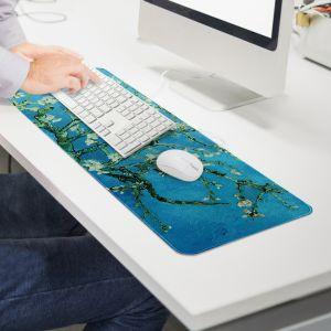 꽃피는 아몬드나무 대형 마우스패드(80x30cm) [제작 대량 도매 로고 인쇄 레이저 마킹 각인 나염 실크 uv 포장 공장 문의는 네이뽕]