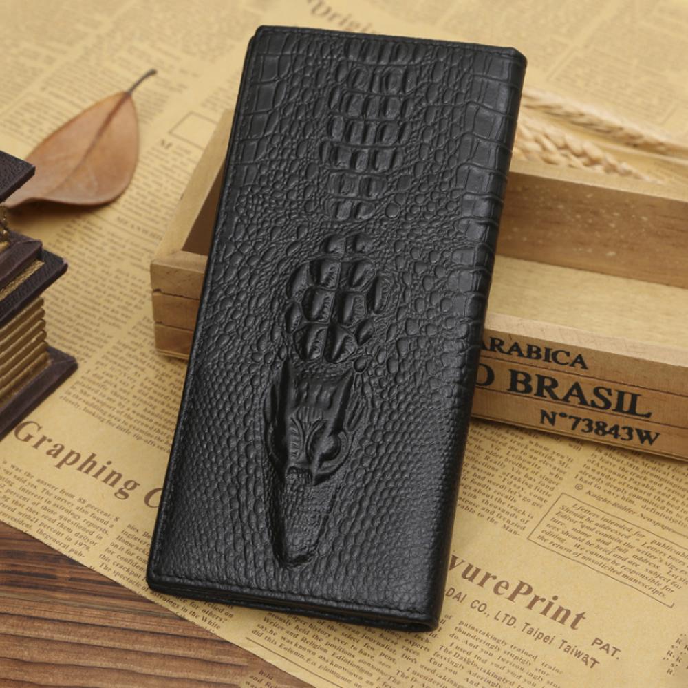 크로커다일 무늬 장지갑(블랙) [제작 대량 도매 로고 인쇄 레이저 마킹 각인 나염 실크 uv 포장 공장 문의는 네이뽕]