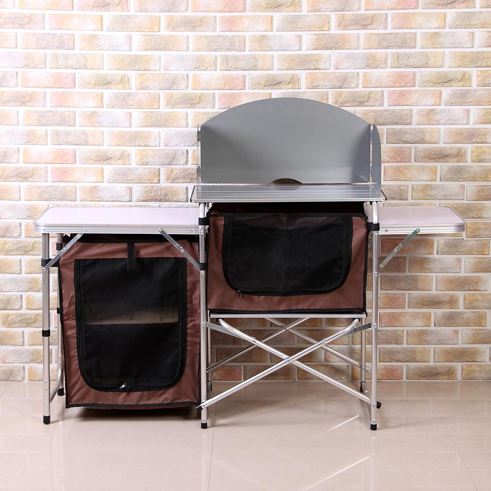 이지캠프 키친 요리 테이블(115x71cm) [제작 대량 도매 로고 인쇄 레이저 마킹 각인 나염 실크 uv 포장 공장 문의는 네이뽕]
