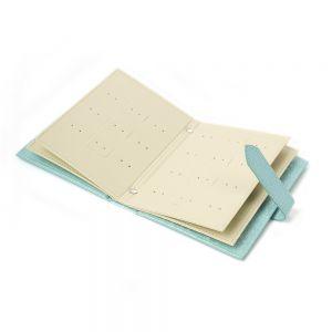 플로디 귀걸이북 보석함(블루) [제작 대량 도매 로고 인쇄 레이저 마킹 각인 나염 실크 uv 포장 공장 문의는 네이뽕]