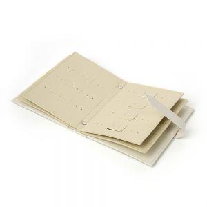 플로디 귀걸이북 보석함(화이트) [제작 대량 도매 로고 인쇄 레이저 마킹 각인 나염 실크 uv 포장 공장 문의는 네이뽕]