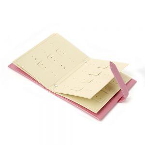 플로디 귀걸이북 보석함(핑크) [제작 대량 도매 로고 인쇄 레이저 마킹 각인 나염 실크 uv 포장 공장 문의는 네이뽕]