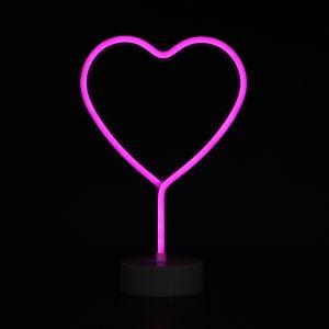 LED 네온사인 무드등(하트) [제작 대량 도매 로고 인쇄 레이저 마킹 각인 나염 실크 uv 포장 공장 문의는 네이뽕]
