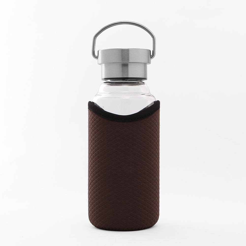 [로하티]브라이트 유리 물병(420ml) [제작 대량 도매 로고 인쇄 레이저 마킹 각인 나염 실크 uv 포장 공장 문의는 네이뽕]