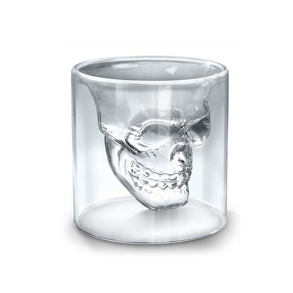 [로하티]해골 이중 스트레이트잔(75ml) [제작 대량 도매 로고 인쇄 레이저 마킹 각인 나염 실크 uv 포장 공장 문의는 네이뽕]