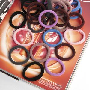 바비 통통 머리끈 40p세트(7컬러) [제작 대량 도매 로고 인쇄 레이저 마킹 각인 나염 실크 uv 포장 공장 문의는 네이뽕]