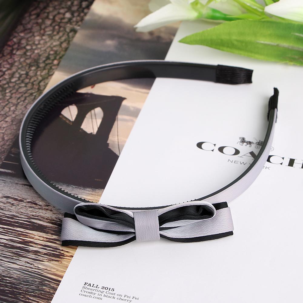 라아라 그레이 리본 머리띠 [제작 대량 도매 로고 인쇄 레이저 마킹 각인 나염 실크 uv 포장 공장 문의는 네이뽕]