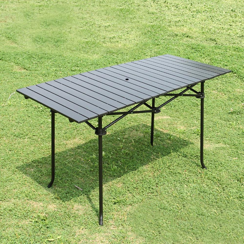 알루미늄 접이식 캠핑테이블(118x55cm) [제작 대량 도매 로고 인쇄 레이저 마킹 각인 나염 실크 uv 포장 공장 문의는 네이뽕]