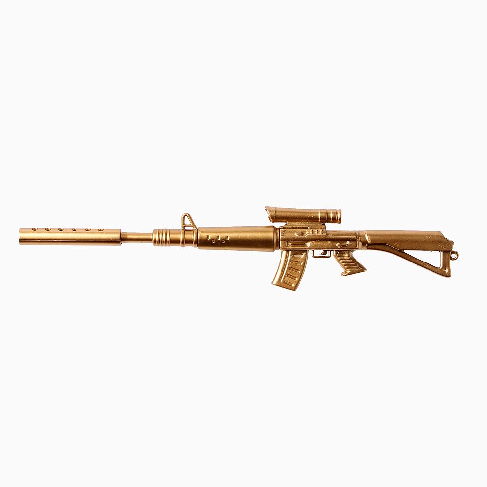 골드 기관총 중성펜 [제작 대량 도매 로고 인쇄 레이저 마킹 각인 나염 실크 uv 포장 공장 문의는 네이뽕]