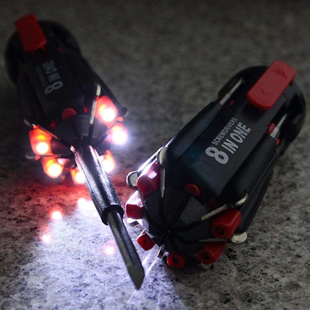 6구 LED 랜턴 드라이버 8종세트 [제작 대량 도매 로고 인쇄 레이저 마킹 각인 나염 실크 uv 포장 공장 문의는 네이뽕]