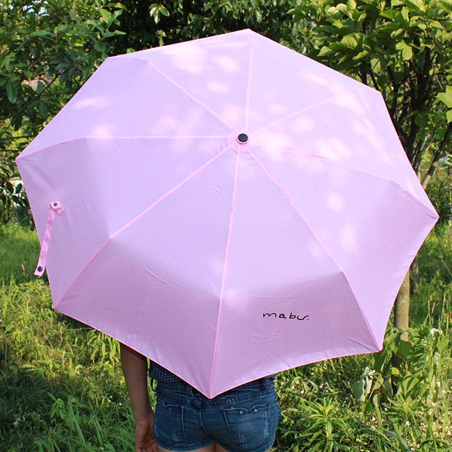 팬시 싱글컬러 3단 우산겸 양산 [제작 대량 도매 로고 인쇄 레이저 마킹 각인 나염 실크 uv 포장 공장 문의는 네이뽕]