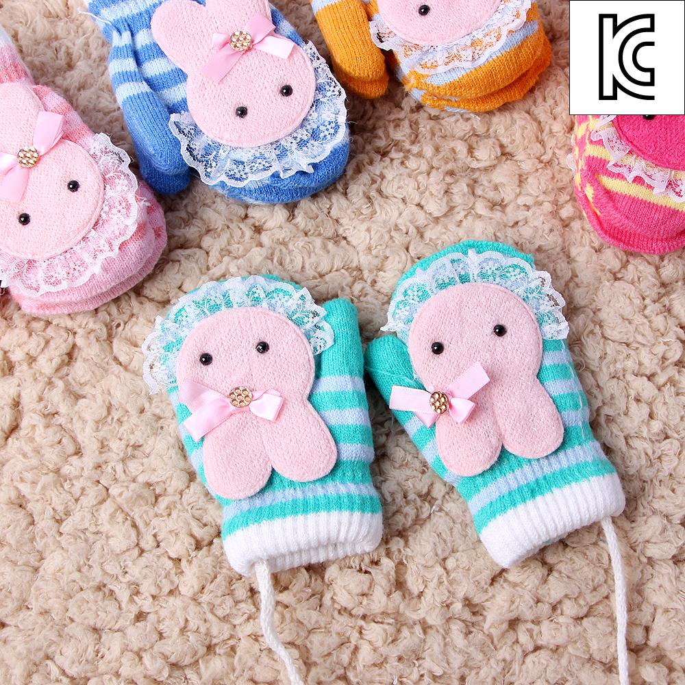 토끼 유아용장갑/방한 겨울 니트장갑 아동장갑