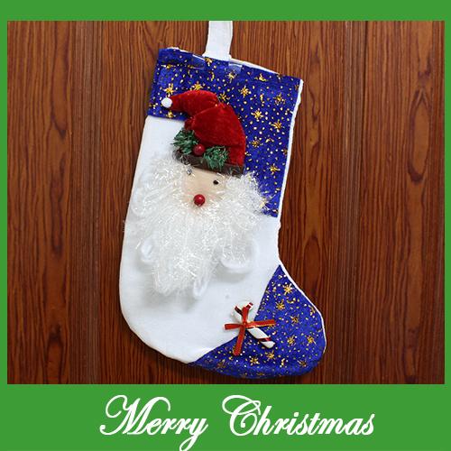 산타얼굴 화이트 양말(38cmx27cm) [제작 대량 도매 로고 인쇄 레이저 마킹 각인 나염 실크 uv 포장 공장 문의는 네이뽕]
