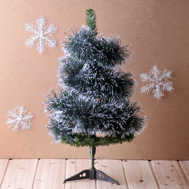 크리스마스 트리 눈꽃 장식 모루(200cm) 장식용