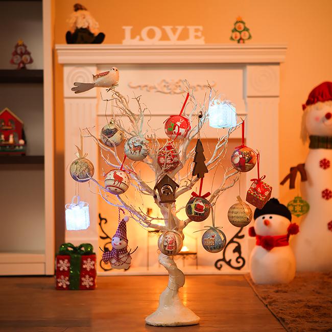 75cm 화이트 이미지볼 풀세트트리 / 크리스마스트리 크리스마스츄리 크리스마스트리풀세트 크리스마스벽트리 크리스마스트리나무 대형크리스마스트리 크리스마스트리만들기