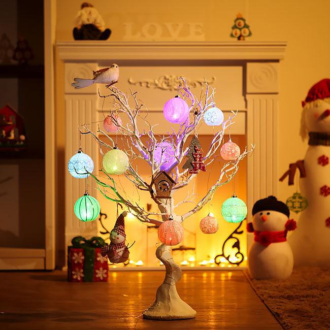 75cm 화이트 램프볼 풀세트트리 / 크리스마스트리 크리스마스츄리 크리스마스트리풀세트 크리스마스벽트리 크리스마스트리나무 대형크리스마스트리 크리스마스트리만들기