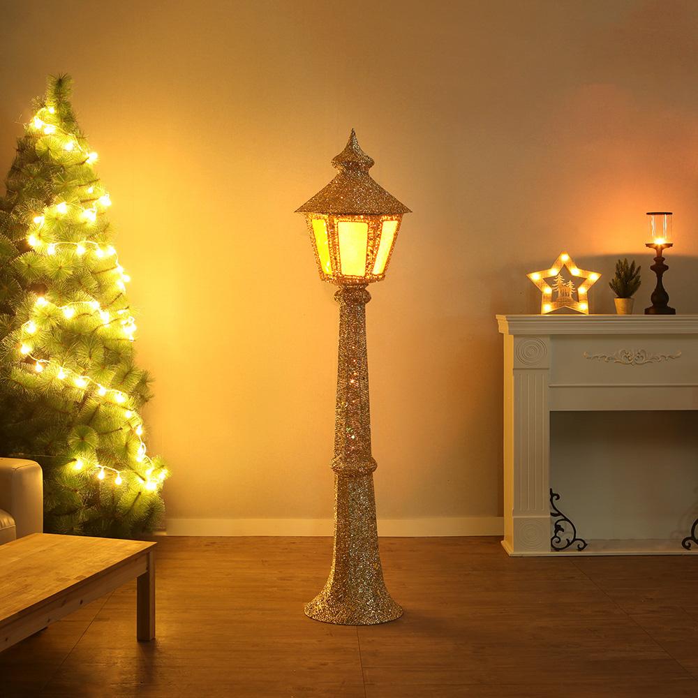 스팽글 크리스마스 장식(가로등) [제작 대량 도매 로고 인쇄 레이저 마킹 각인 나염 실크 uv 포장 공장 문의는 네이뽕]