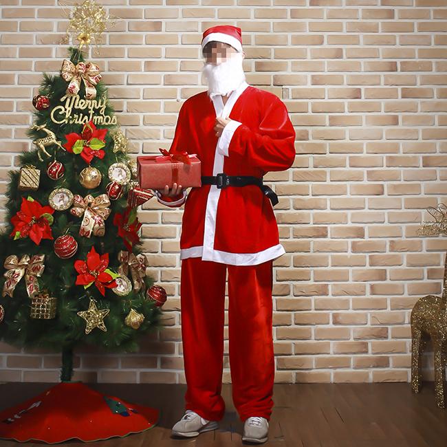 고급형 산타복 [제작 대량 도매 로고 인쇄 레이저 마킹 각인 나염 실크 uv 포장 공장 문의는 네이뽕]