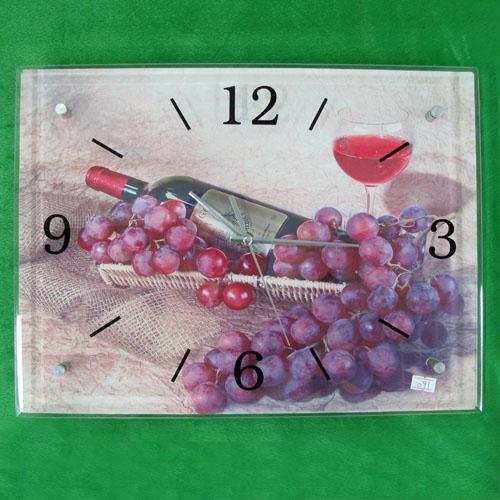 와인과 포도 그림 벽시계(40cmx30cmx2.8cm)
