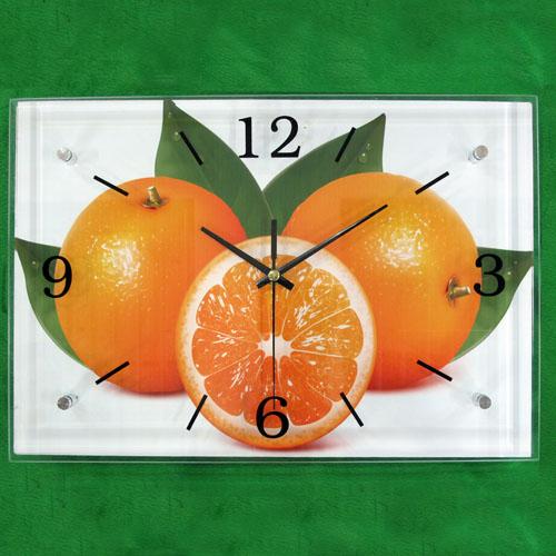 오렌지 그림 벽시계(38cmx26cmx2.8cm)