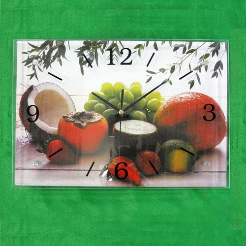 과일과 햇살 그림 벽시계(38cmx26cmx2.8cm)
