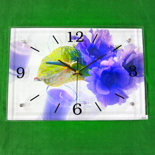 보라향 그림 벽시계(38cmx26cmx2.8cm)