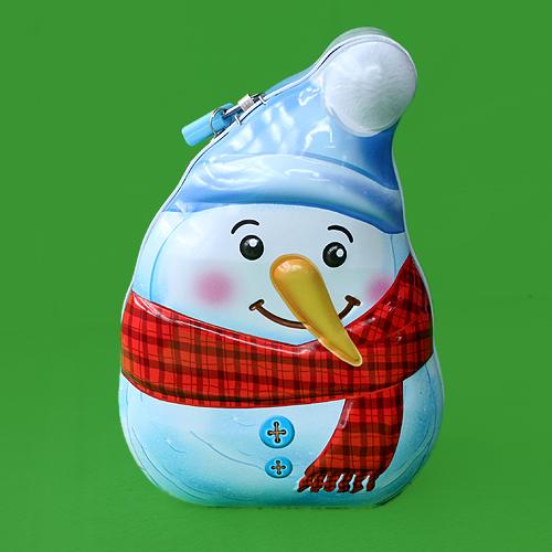 철제 팬시 저금통(눈사람) (19cmx12.5cmx8cm)