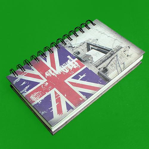 빈티지 국기 디자인 스프링 노트(120매내외) (21cmx13cm)