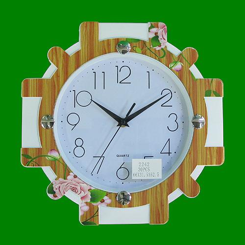 원목무늬 플라워 매지컬 벽시계(30cmx30cm)