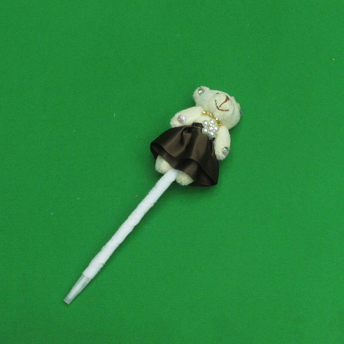 0.7mm 큐빅 드레스 입은 곰인형 볼펜(21cmx7cm)
