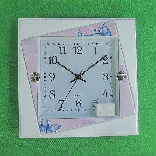 회전 사각무늬 벽시계(26cmx26cm)