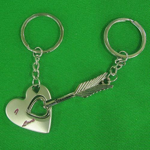 하트와 화살 커플 열쇠고리(3cmx8cm)