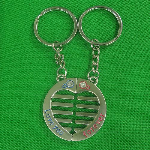 동그라미 하트 커플 열쇠고리(3.8cmx8.7cm)