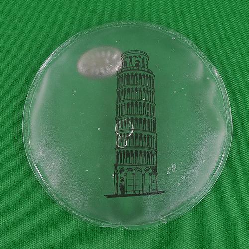 피사의 탑 원형 똑딱이 손난로(10cm)