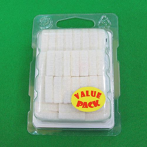 32p 소음 & 긁힘방지 접착식 사각 블럭(펠트-화이트) (1.7cmx1.7cmx0.5cm)