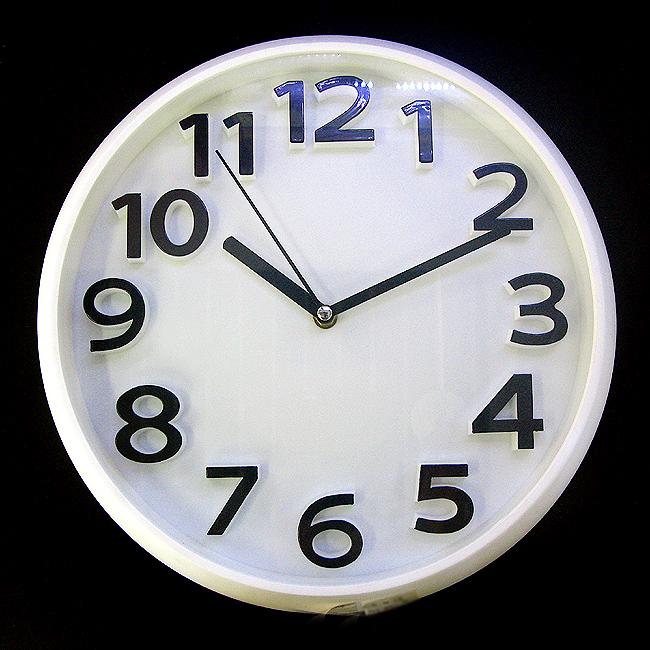 심플 디자인 원형 벽시계(화이트)