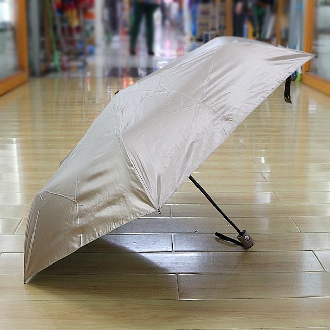 심플 컬러 3단 완자동 우산겸 양산